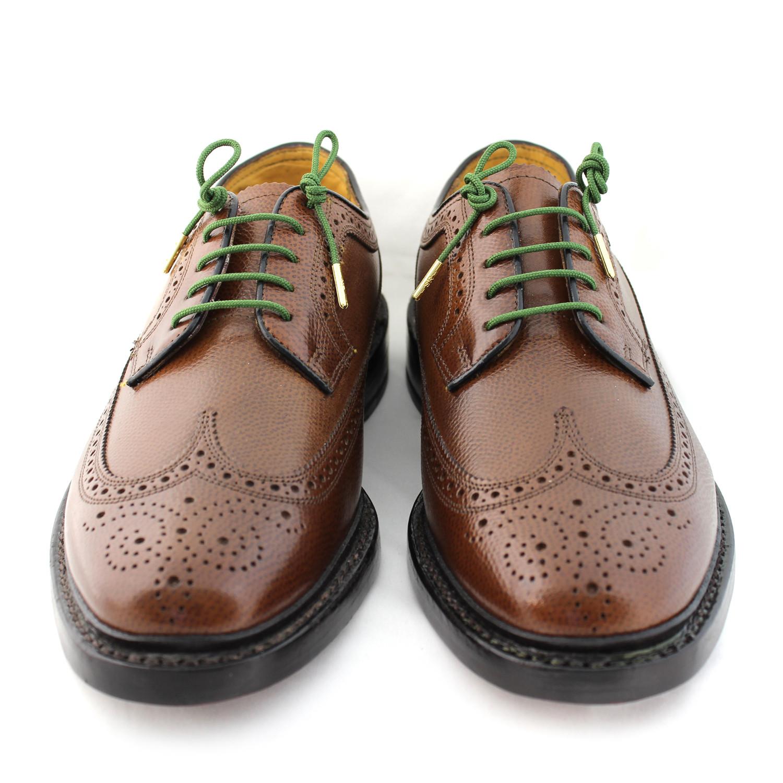 Brown dress shoe laces