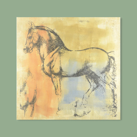 Horse (Brown + Orange + Blue)