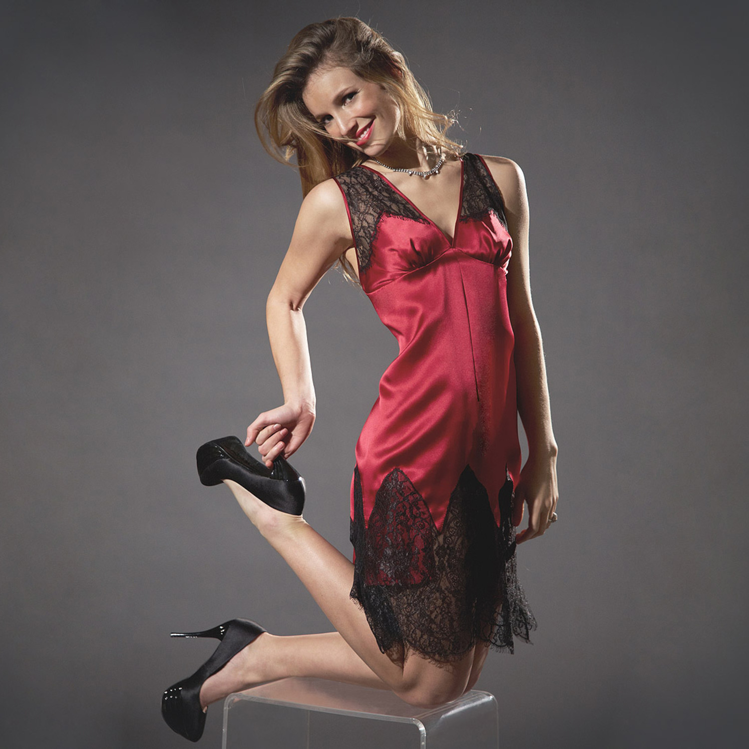 3f53fcb04 Deco Lace Chemise    Red (Small) - Between the Sheets - Touch of Modern
