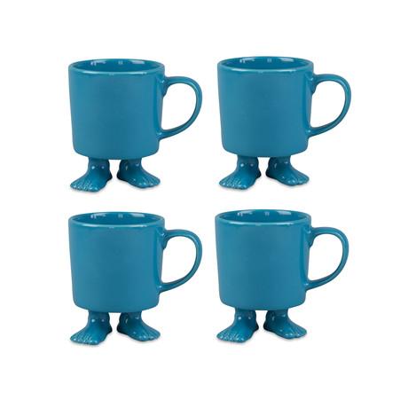 Turquoise Mug // Set of 4