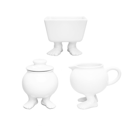 Coffee Set // Sugar Bowl + Creamer + Sugar Packet Caddy