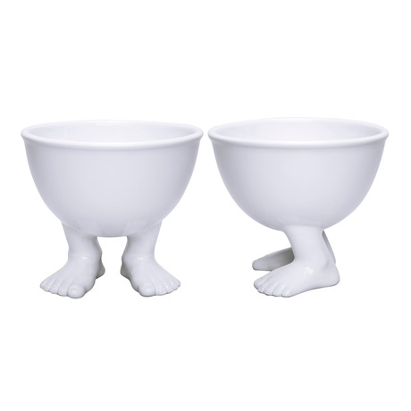 Medium White Bowl // Set of 2