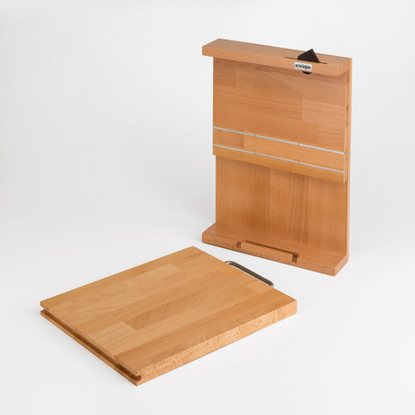 Knife Block With Cutting Board Artelegno Touch Of Modern