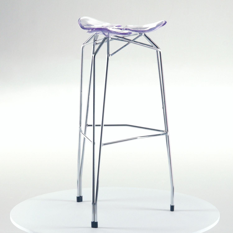 Pleasant Diamond Bar Stool Chrome Base Transparent Shell Pdpeps Interior Chair Design Pdpepsorg