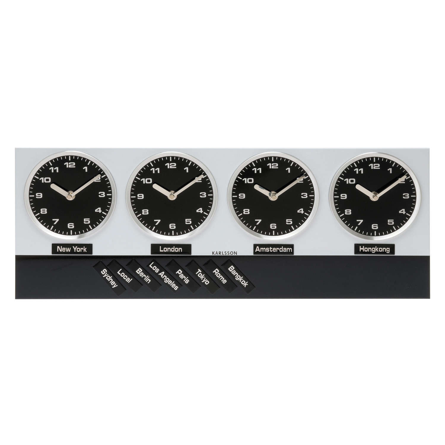 Wall Clock Time Zone Including Magnets Karlsson Touch Of Modern