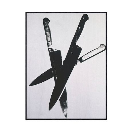 Andy Warhol // Knives, C.1981-82 (Three Black)