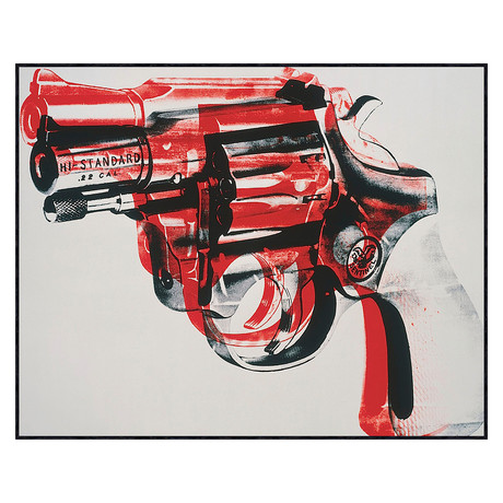 Andy Warhol // Gun, C. 1981-82 (Black And Red On White)