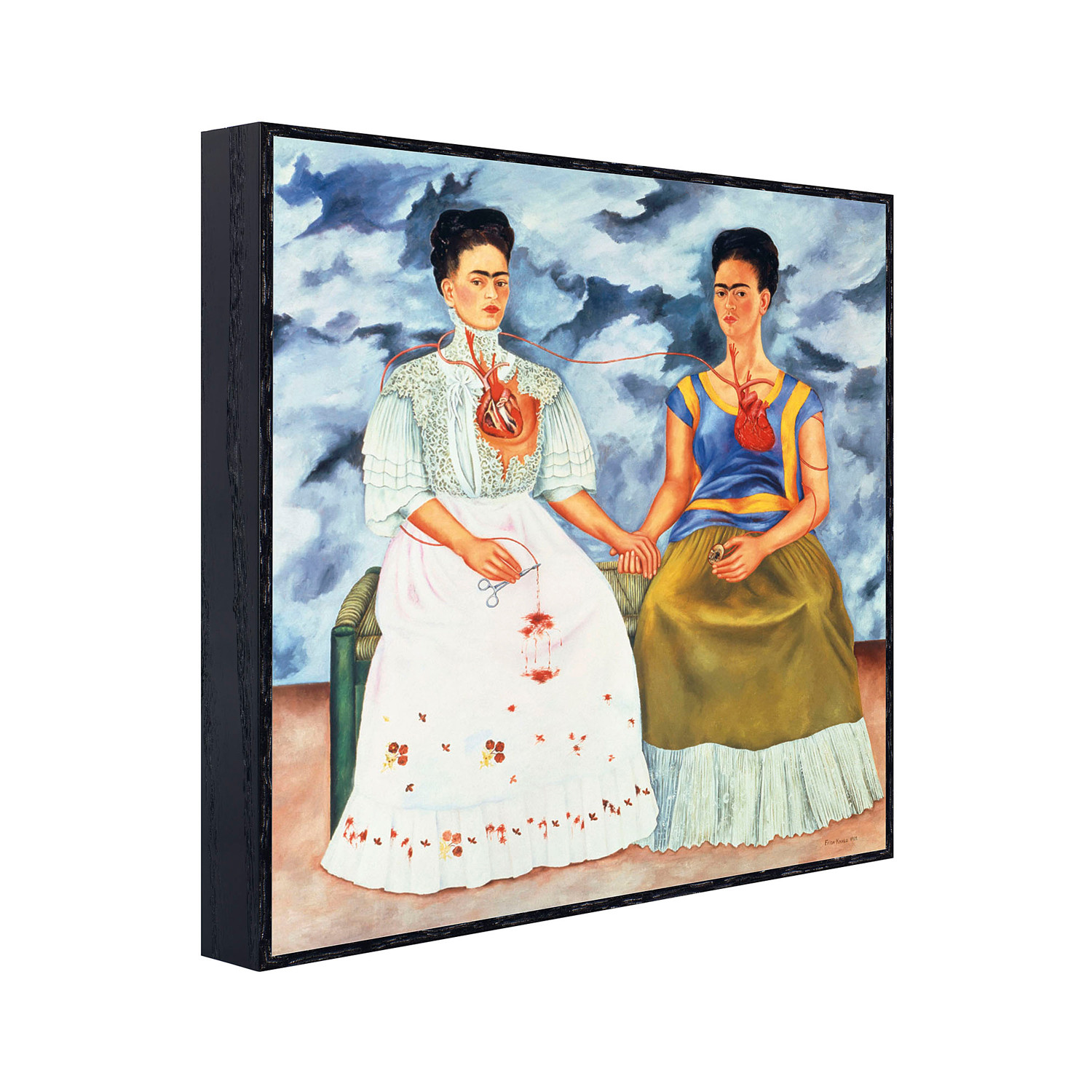 the two fridas The two fridas 1939 frida once said to diego my blood is the miracle that  travels in the veins of the air from my heart to yours.