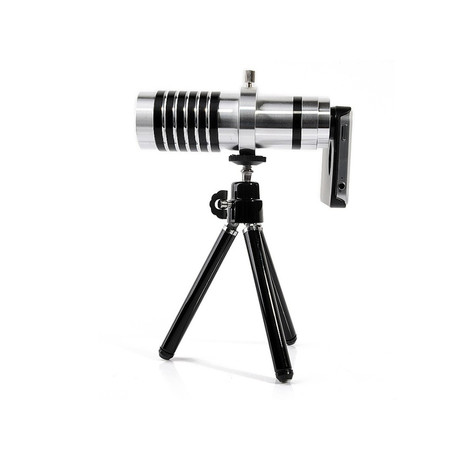 Pack Aluminium ZOOMX14 iPhone Lens & Tripod (iPhone 4/4S)
