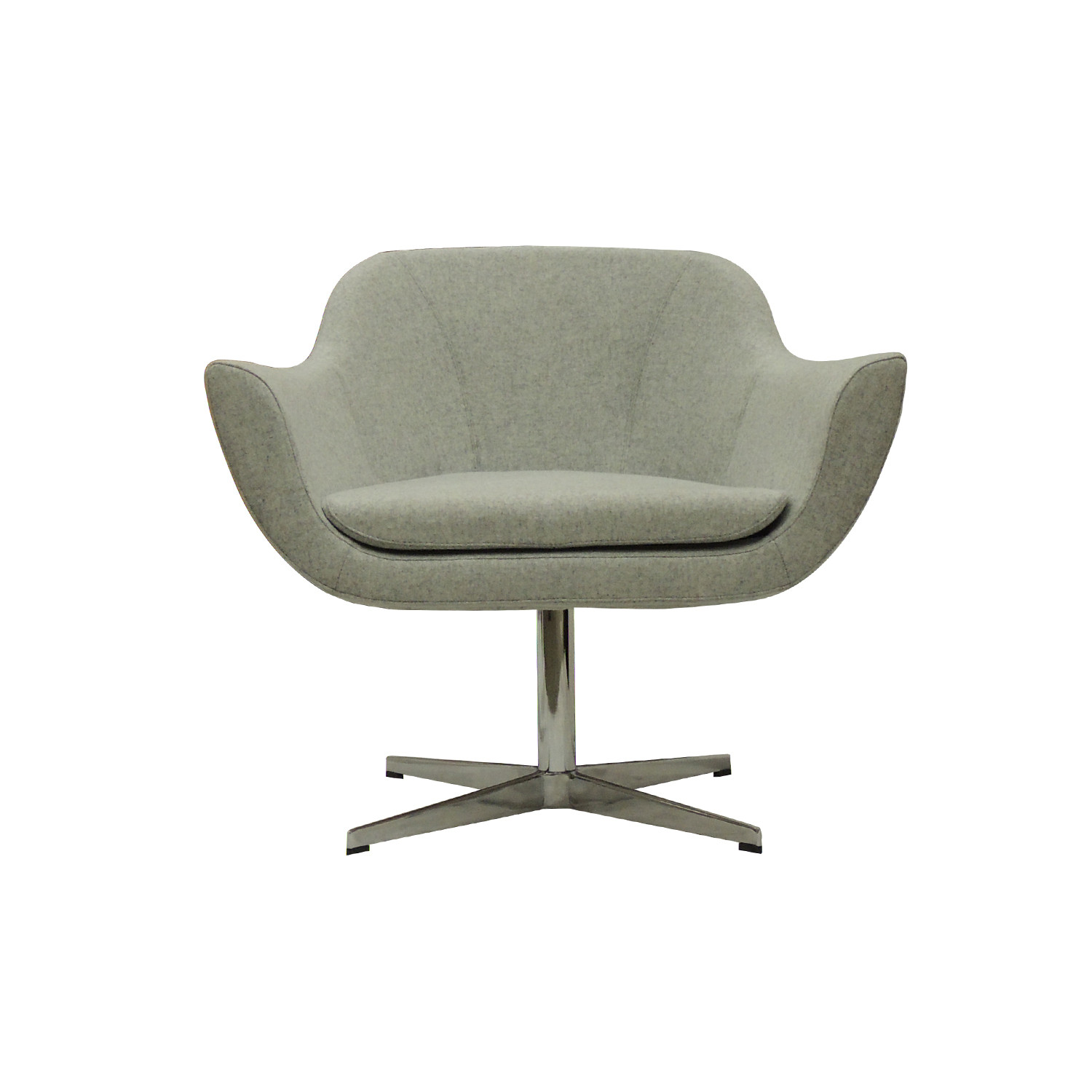 Charmant Green Lounge Chair // Swivel