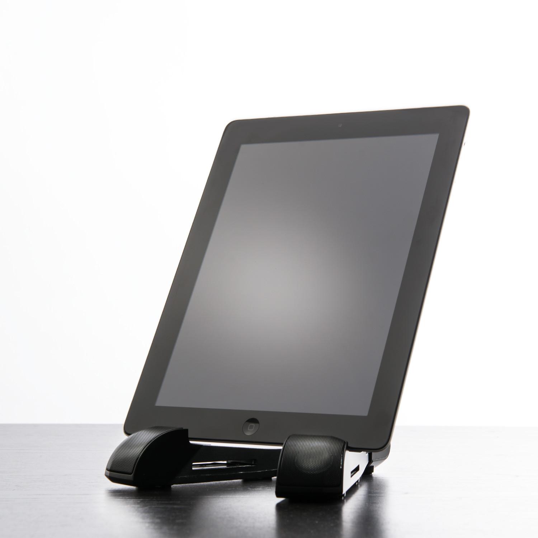 bionn bluetooth speaker stand for tablets bionn touch of modern. Black Bedroom Furniture Sets. Home Design Ideas