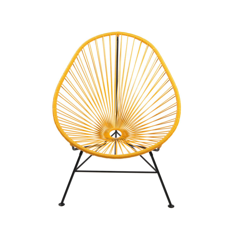 Merveilleux Acapulco Steel Lounge Chair // Black Frame, Mustard Shell