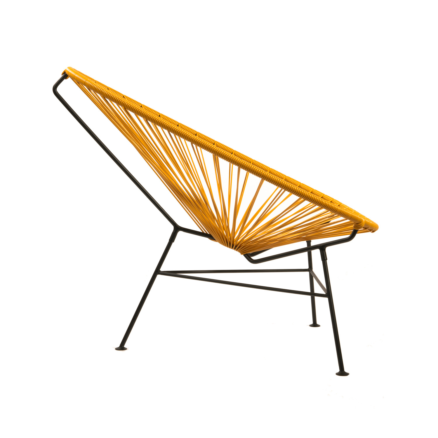 Acapulco Steel Lounge Chair Black Frame Mustard Shell The