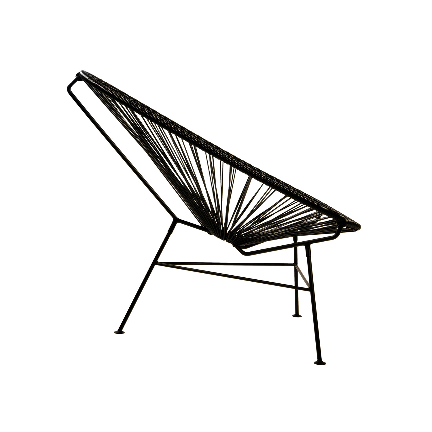 Acapulco Modern Steel Lounge Chair Black Frame Black