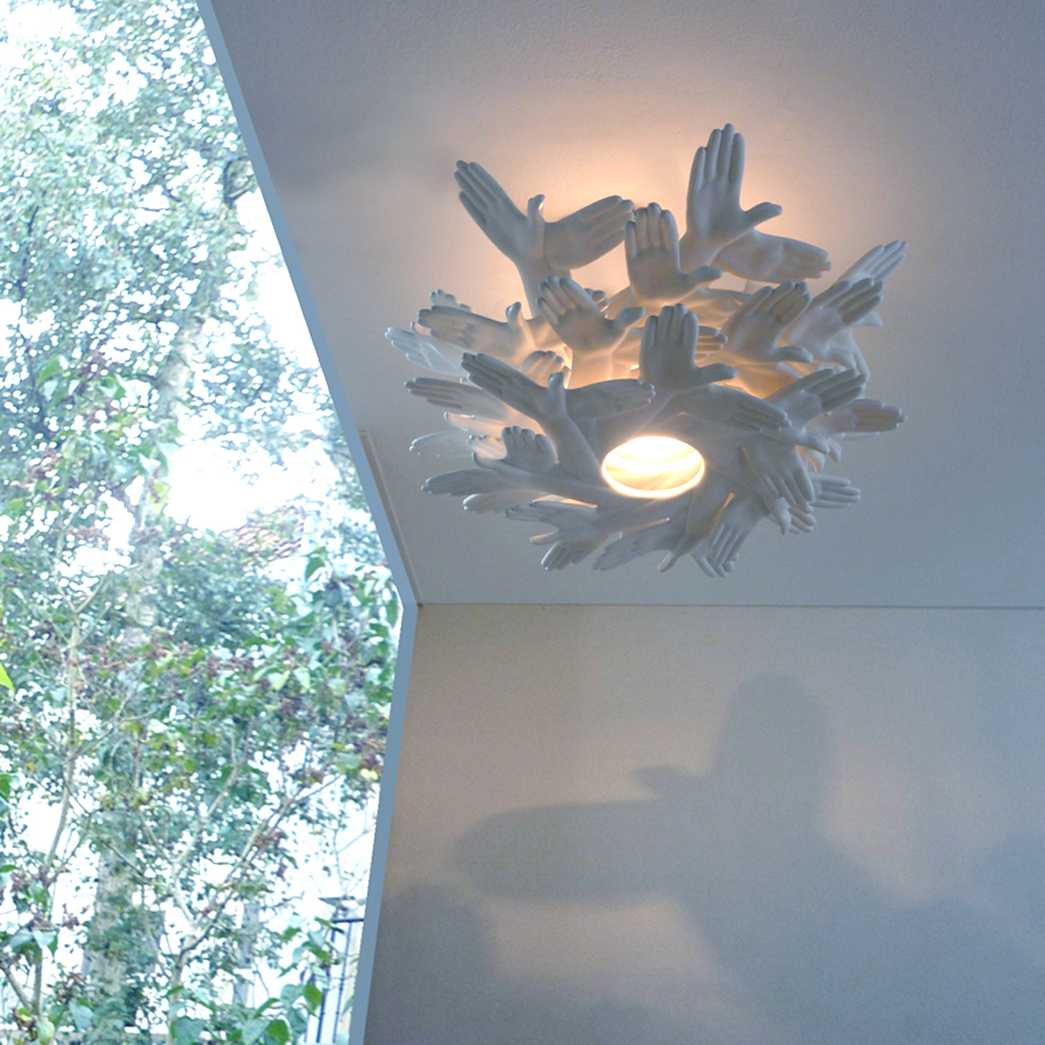 Amazing Bird In Hand // Shadow Playing Chandelier Great Ideas