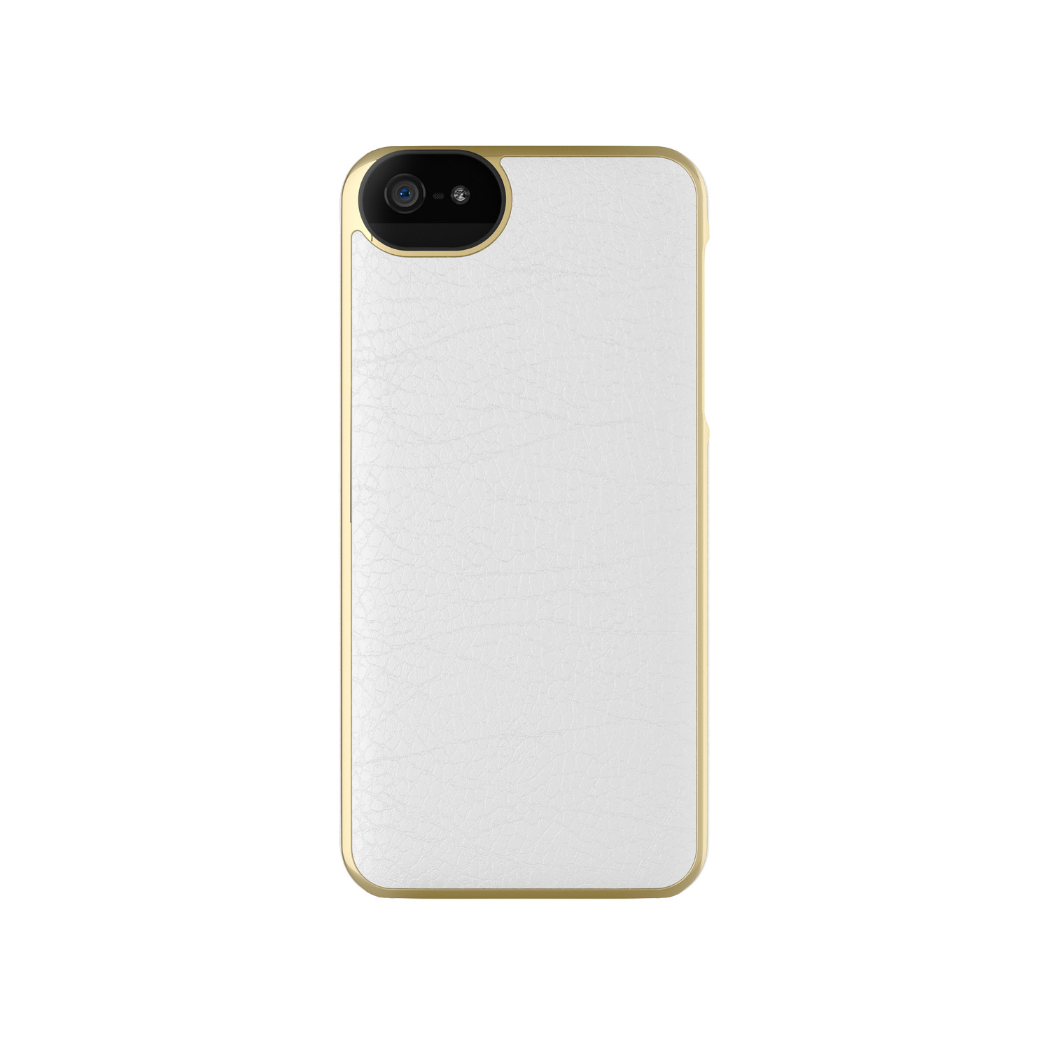 Leather Wrap Case for iPhone 5/5s // White + Gold ...