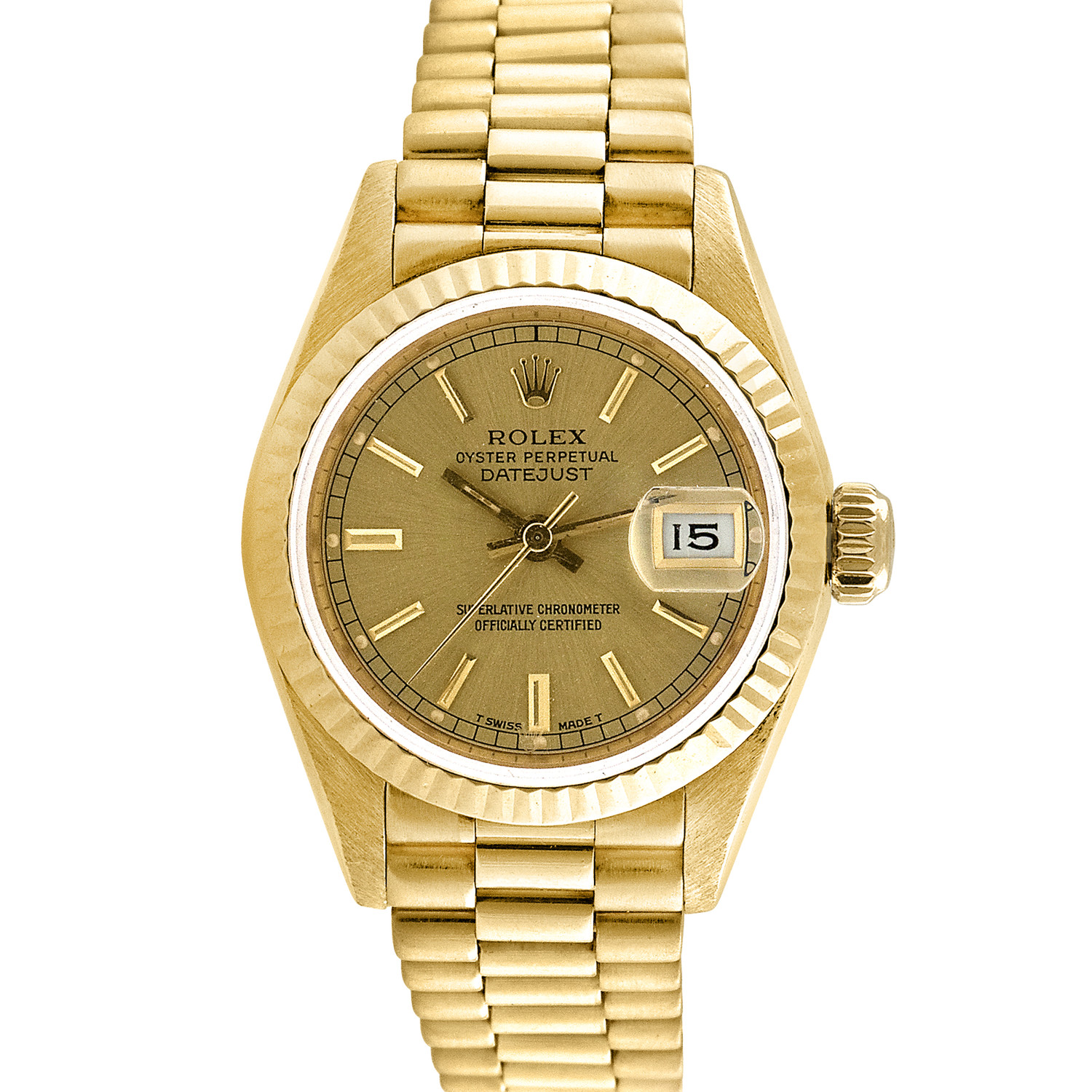 white s men watches president gallery rolex watch presidential numeral bezel day fluted yellow gold band marker date dial roman