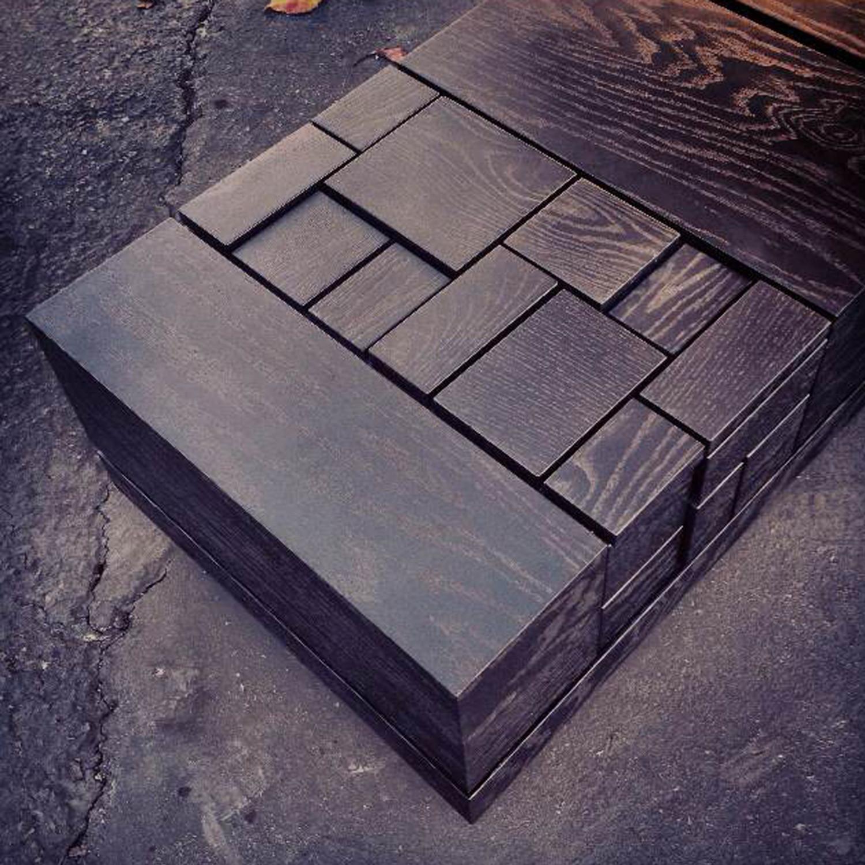 Abaci Black 55 // Coffee Table (Two Tone Finish // Black Oak