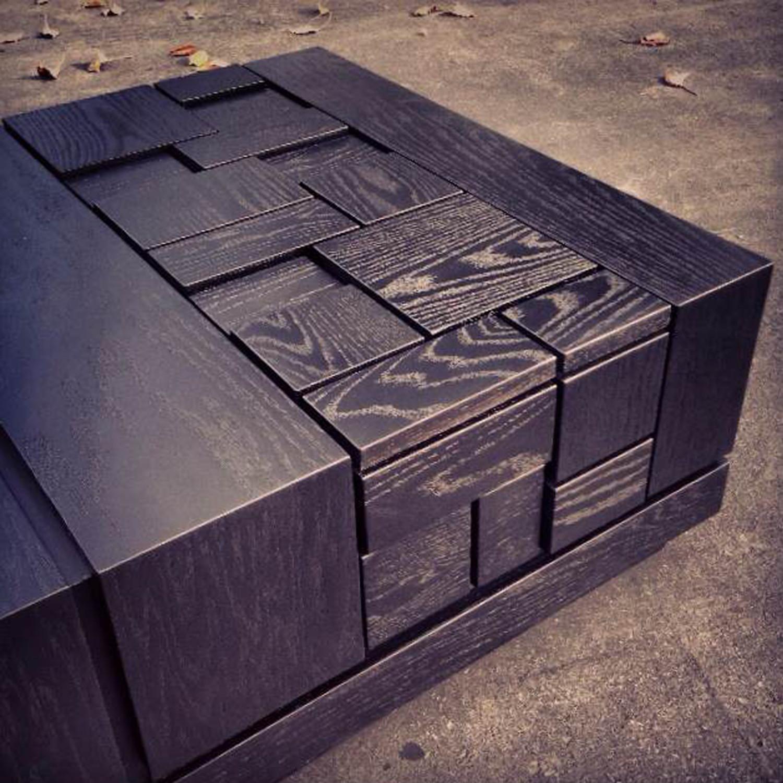 Abaci Black 34 // Square Coffee Table (Two Tone Finish // Black