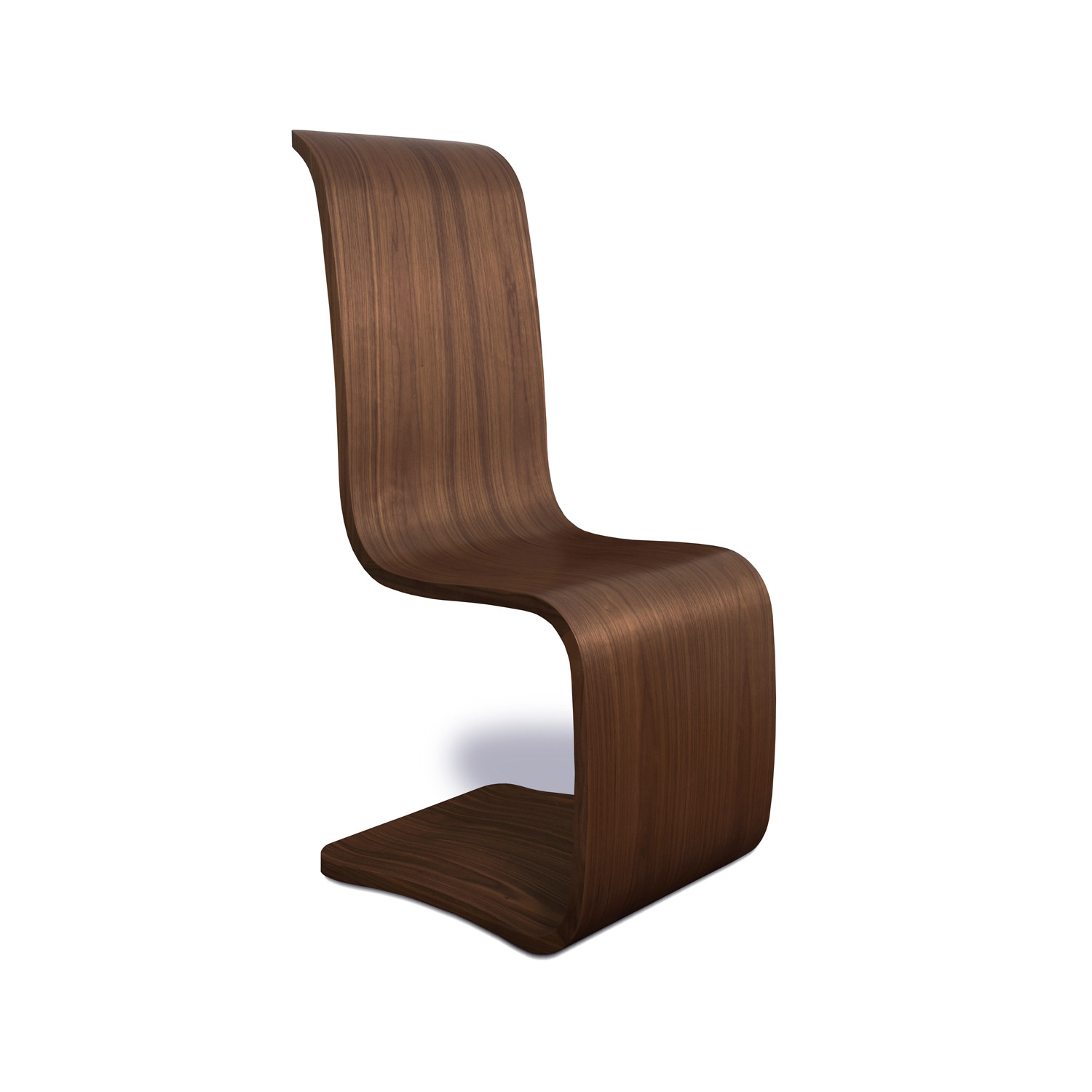 Curl Dining Chair Walnut Tom Schneider Touch Of Modern