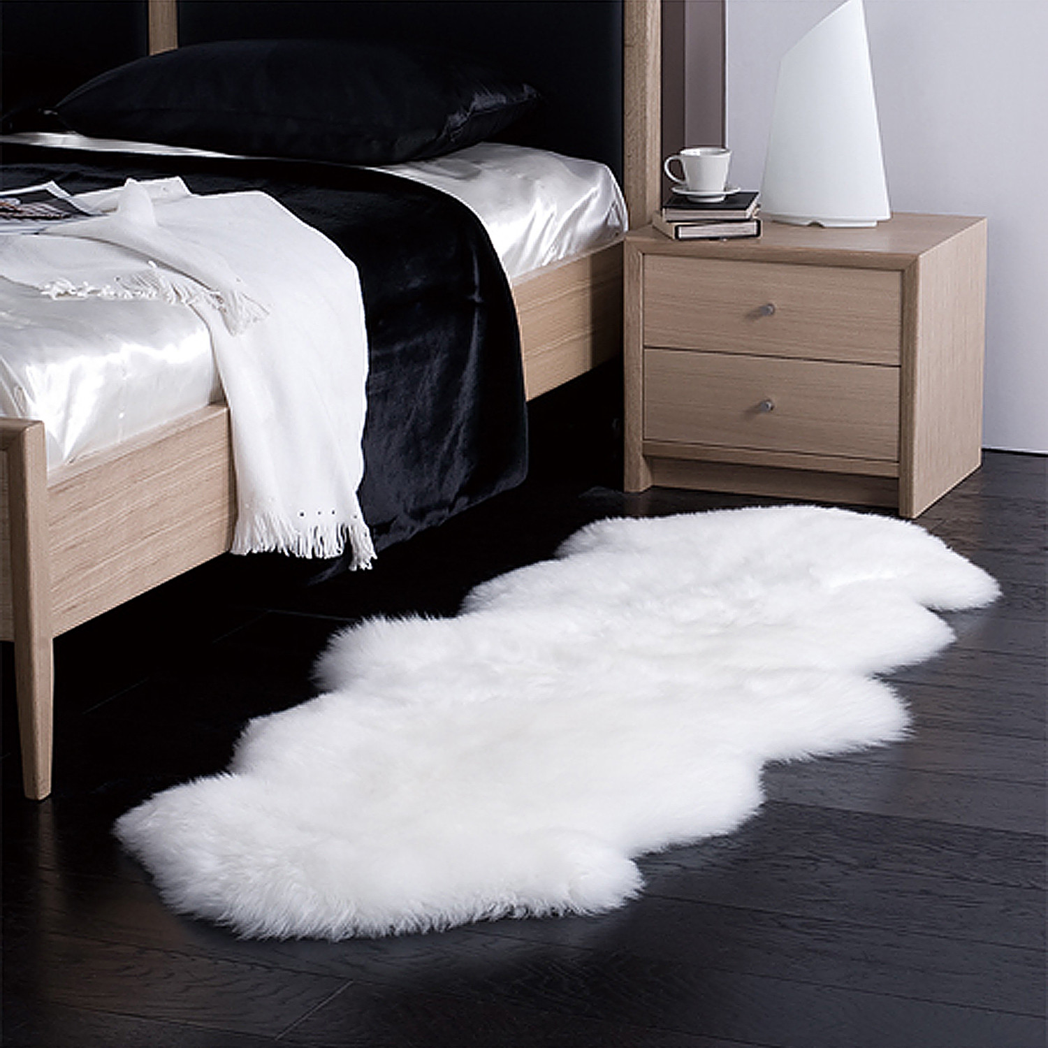 New Zealand Sheepskin Rug Double Natural