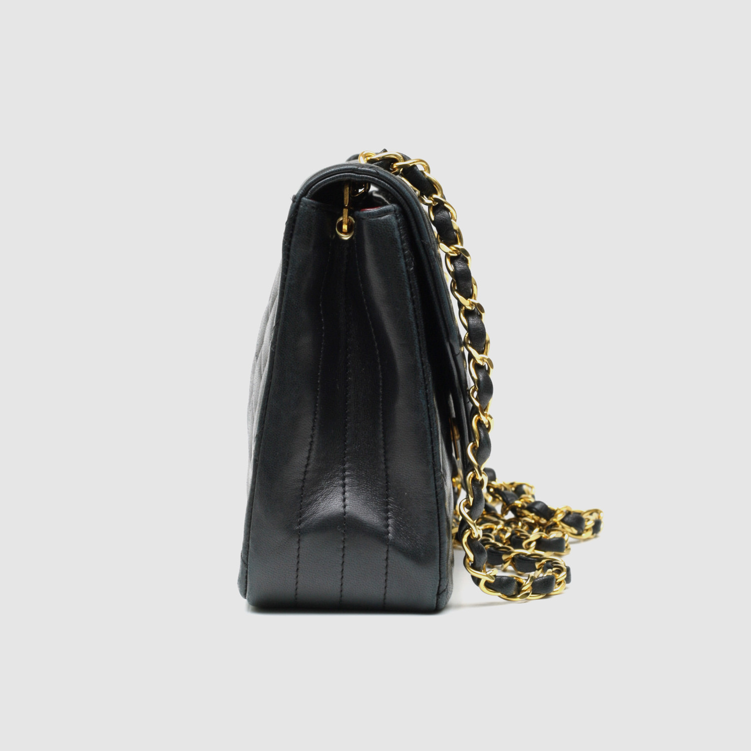Chanel Small Flap Bag // Black Quilted Lambskin - Vintage Luxury ... : chanel mini quilted bag - Adamdwight.com