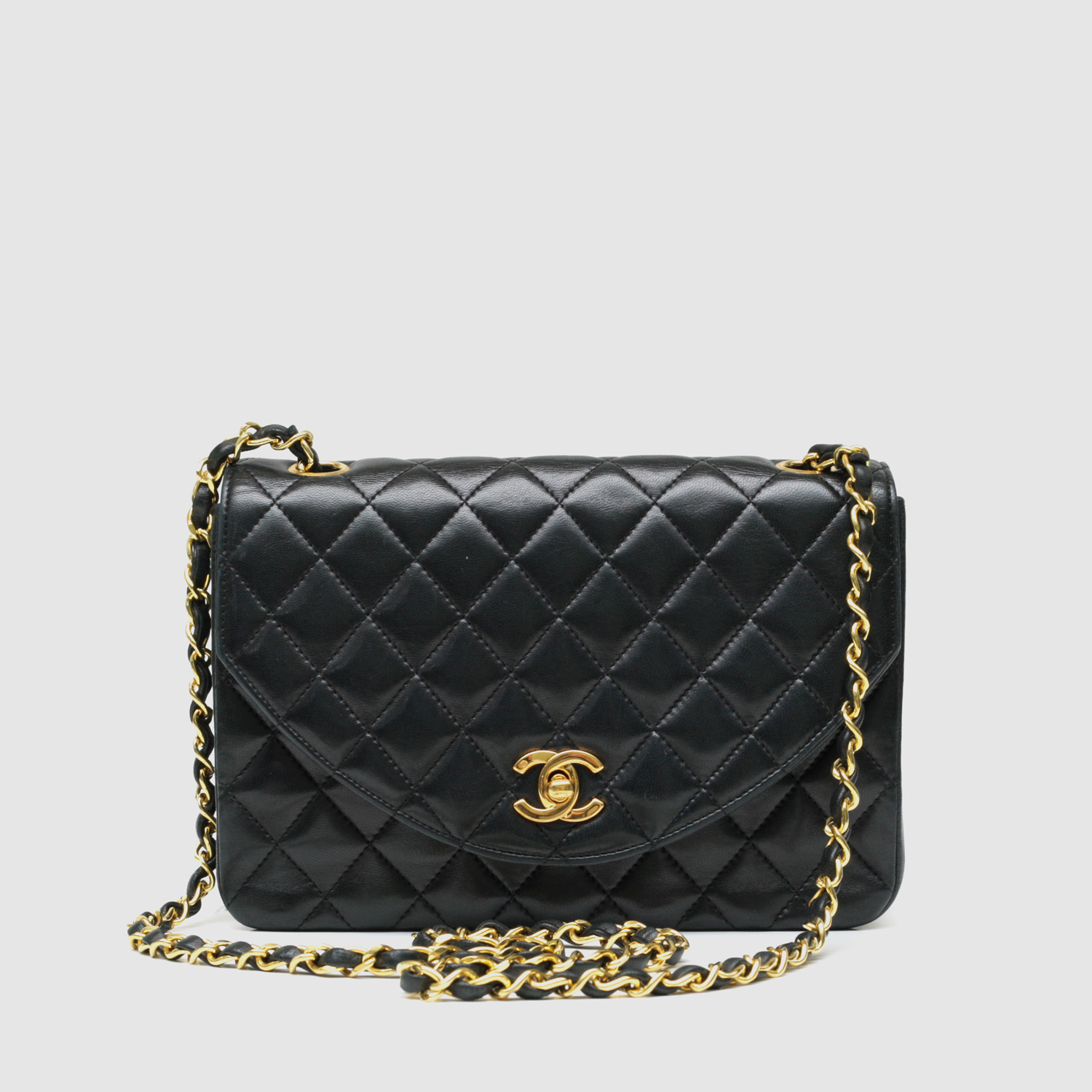 8f2c089d5db44 Chanel Small Flap Bag    Black Quilted Lambskin - Vintage Luxury ...