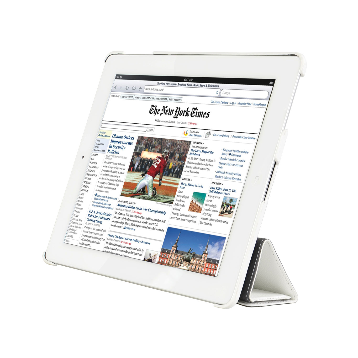 Ipad 2 3 4 Leather Slim Cover White Decoded Touch