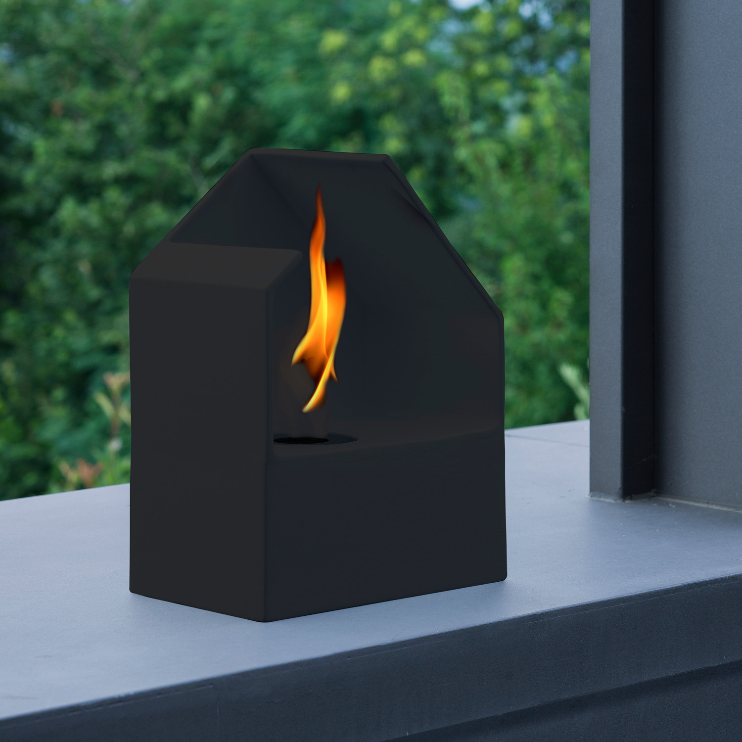homu mini bio fireplace black acquaefuoco touch of modern