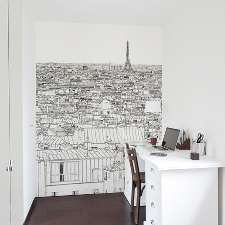 ohmywall parisian wall prints touch of modern. Black Bedroom Furniture Sets. Home Design Ideas