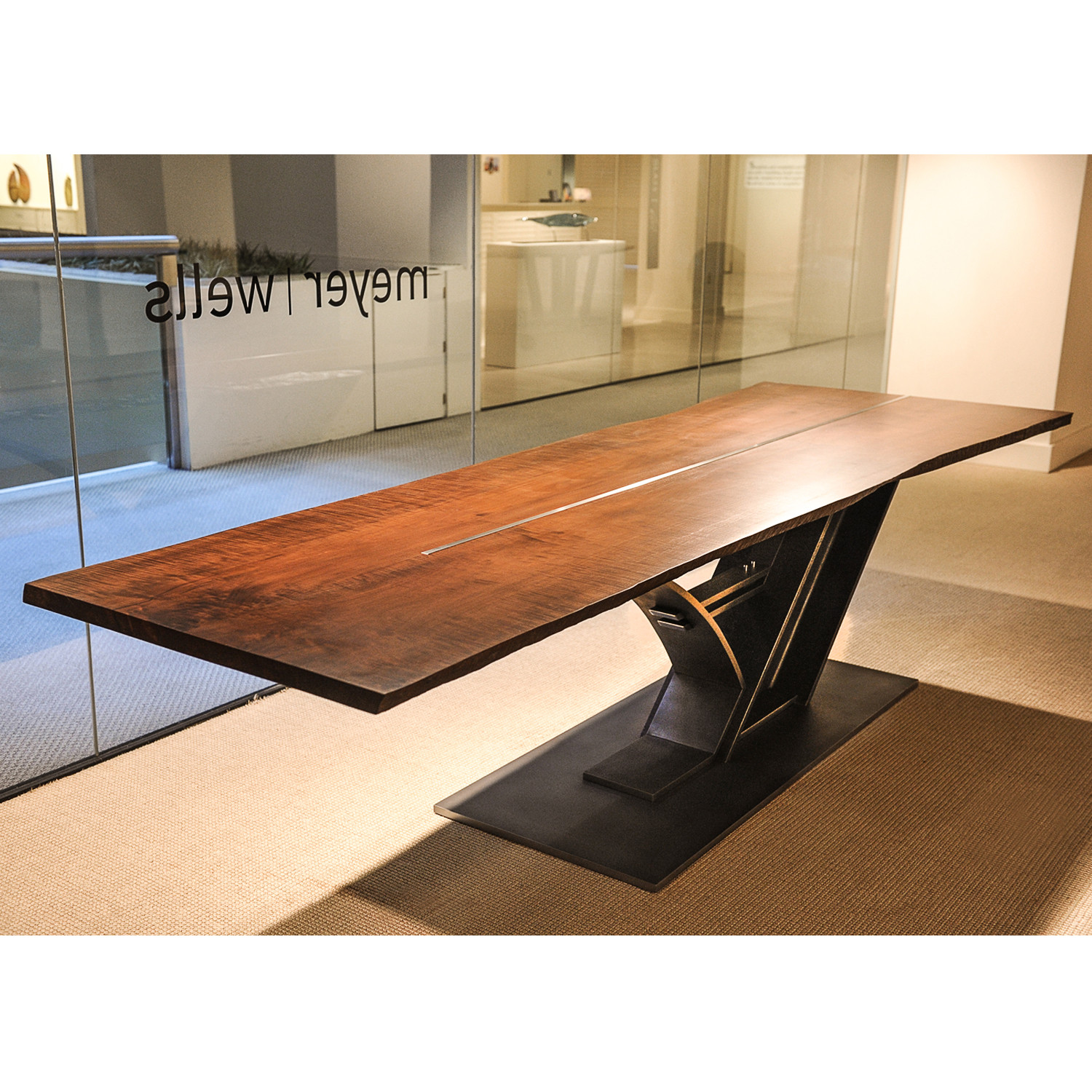 Rainier dining table meyer wells touch of modern for Dining table frame design