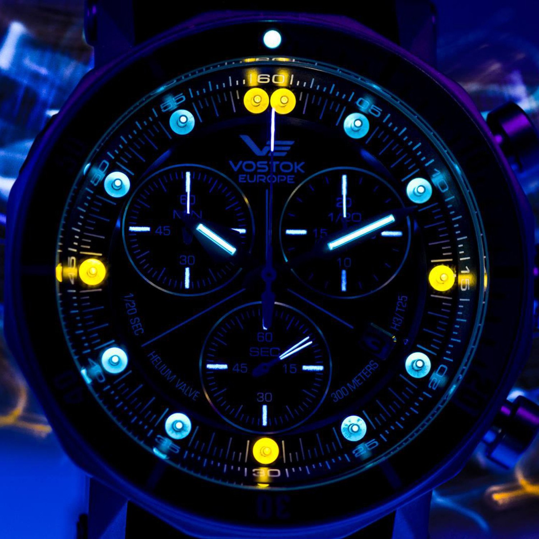 Vostok Europe Lunokhod 2 Tritium Tube Chronograph Quartz // 6S30 ...