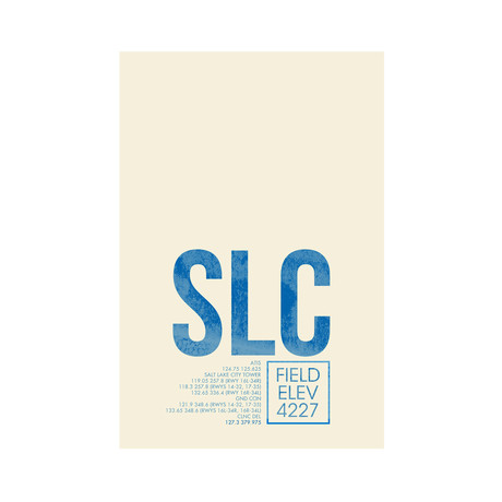 SLC // Salt Lake City (Print 12 x 18)