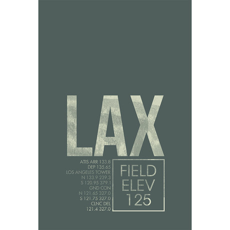 "LAX // Los Angeles (Print - 12"" x 18"")"