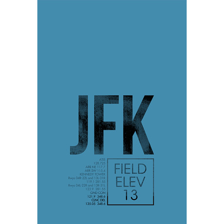 "JFK // New York City (Print - 12"" x 18"")"
