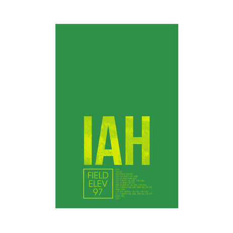 IAH // Houston (Print 12 x 18)
