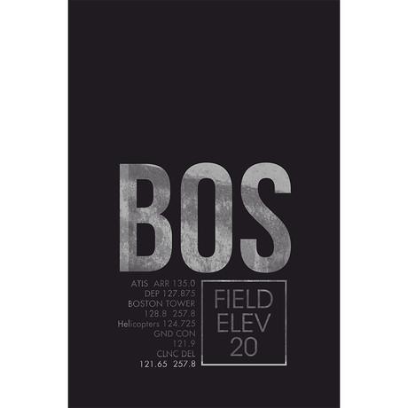 """BOS // Boston (Print - 12"""" x 18"""")"""