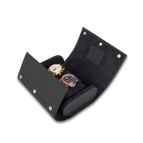 Portman Double Watch Roll // Black