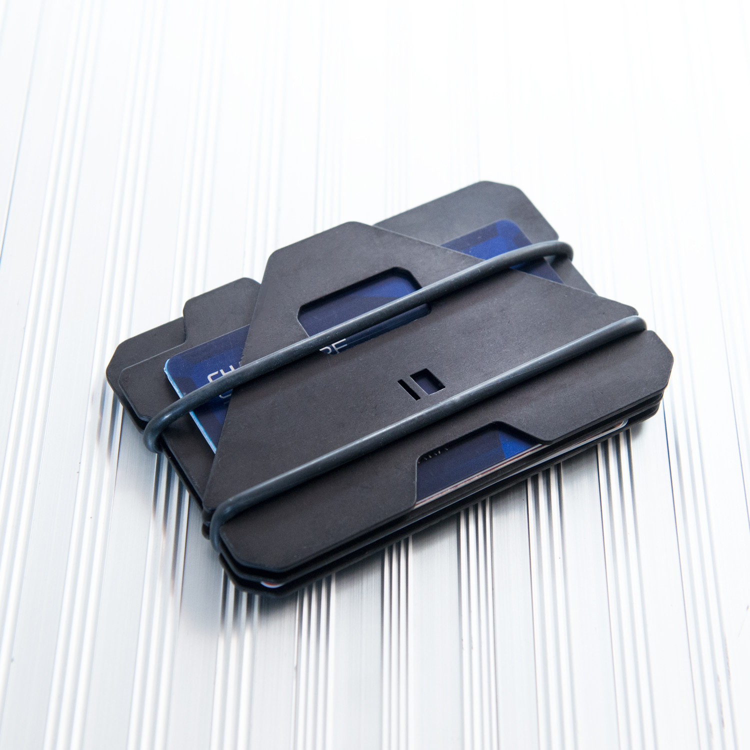 Touch Of Modern: A3 Aluminum Plate Wallet // Black Hardcoat Anodized