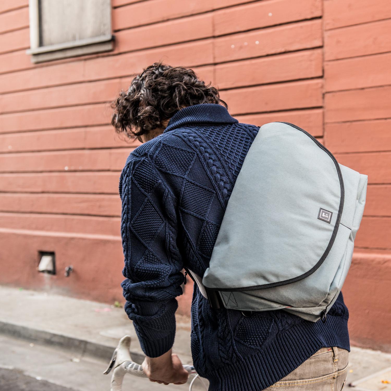 Medium Zero Messenger Bag With 13 Laptop Sleeve Cordura Black Xpac Red