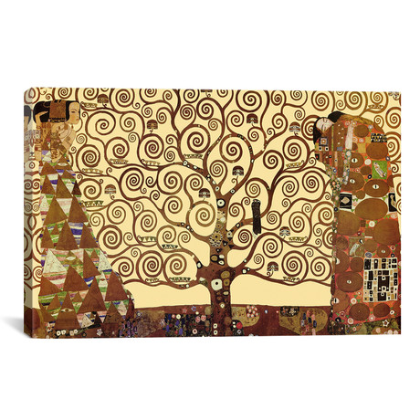 "The Tree of Life // Gustav Klimt // 1909 (26""W x 18""H x0.75""D)"