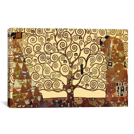 """The Tree of Life // Gustav Klimt (40""""W x 26""""H x 1.5""""D)"""