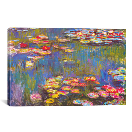 "Water Lilies // Claude Monet // 1916 (26""W x 18""H x 0.75""D)"