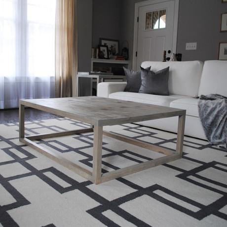 Rectangular Grey Coffee Table
