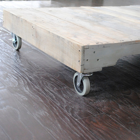 Reclaimed Coffee Table on Casters