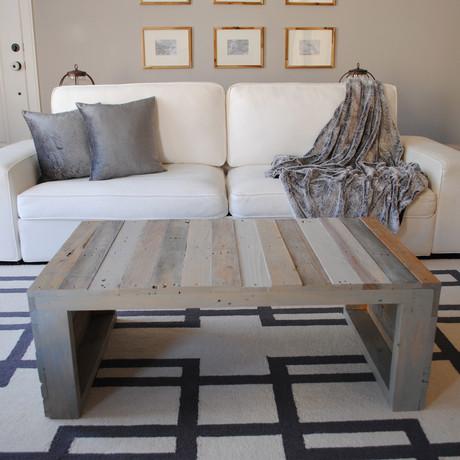 Modern Grey Pallet Coffee Table