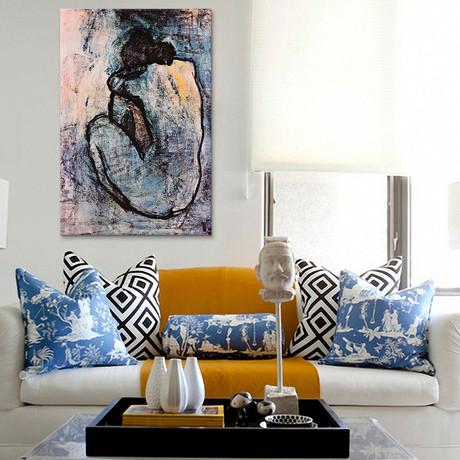 """Blue Nude // Pablo Picasso // 1902 (26""""W x 18""""H x 0.75""""D)"""