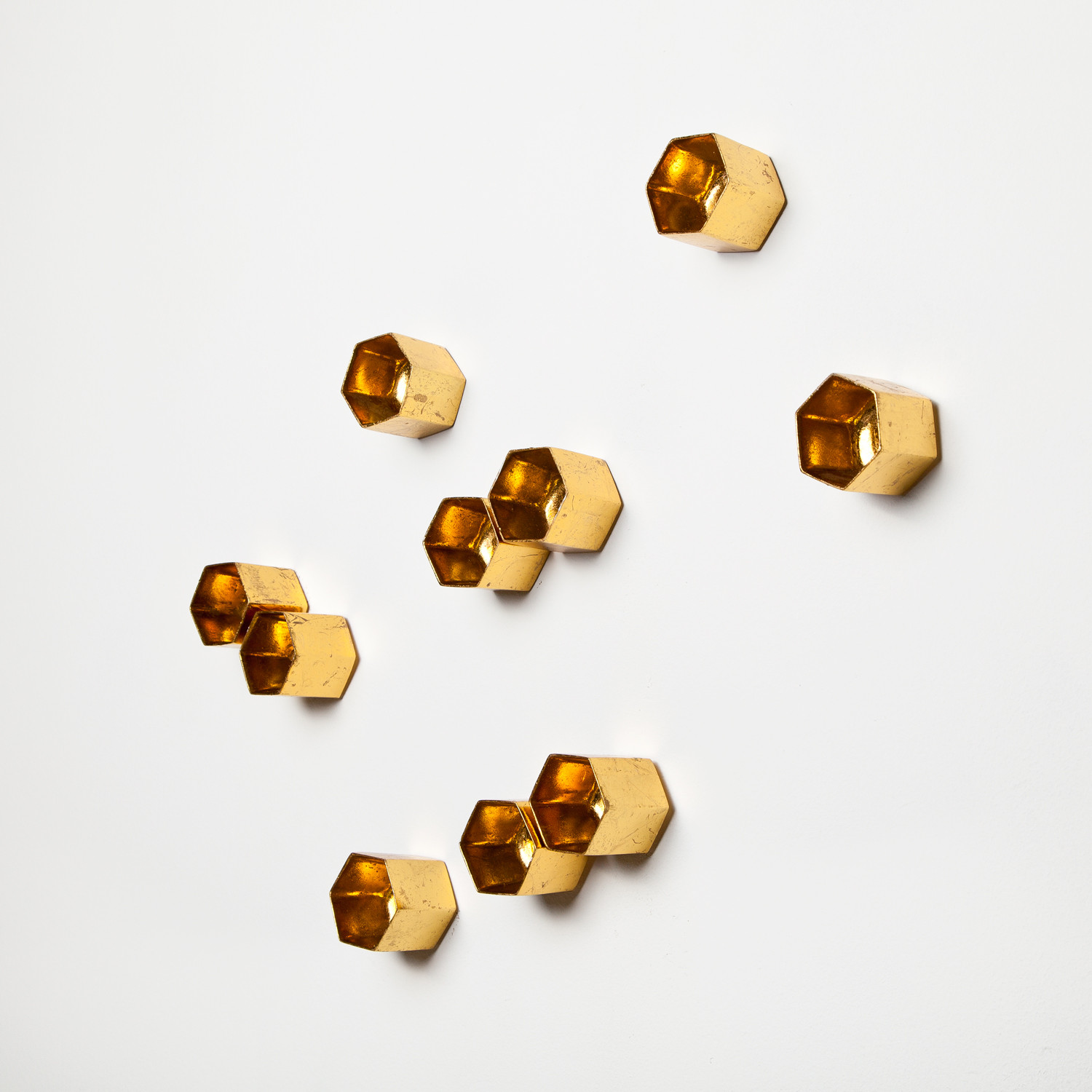 Beehive Wall Play Gold Set of 10 Gold Leaf Design Touch