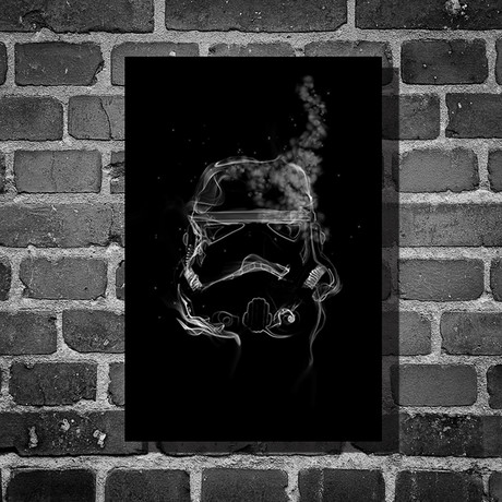 "Star Wars // Harshness // Storm Trooper (16""L x 12""H)"