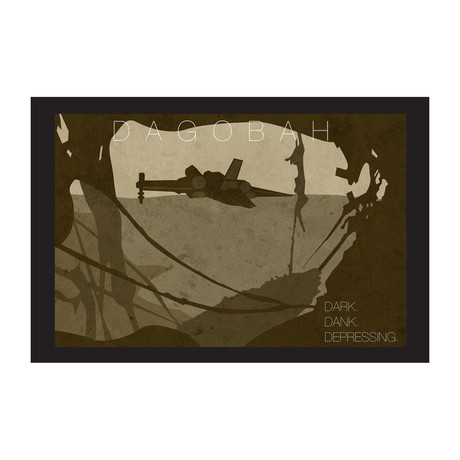 "Star Wars Location // Dagobah Black Border (16""L x 12""H)"
